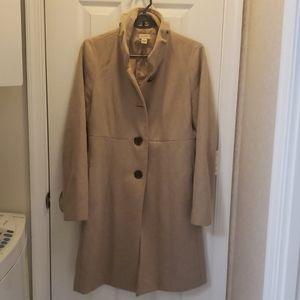 Wool blend stand collar coat